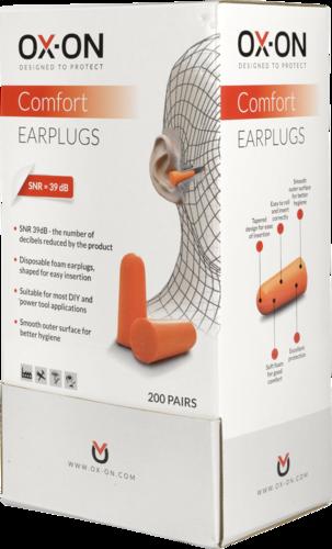 OX-ON Disposable Earplugs Comfort