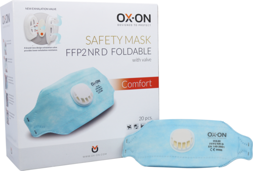 OX-ON Mask FFP2 NR D Foldable w/ Valve Comfort