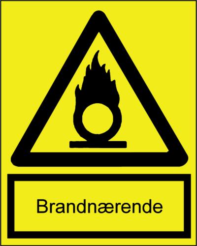 Brandnærende - Folie