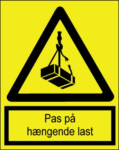Pas på hængende last - Folie