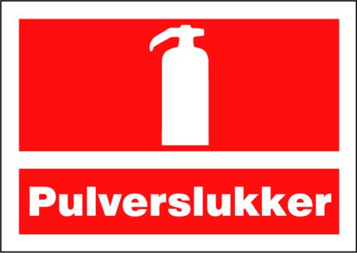 Pulverslukker - Plast