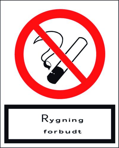Rygning forbudt - Folie