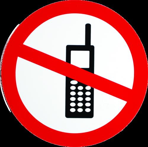 Mobiltelefon forbudt - Folie