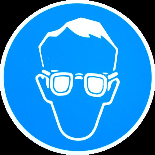 Øjenværn påbudt - Plast