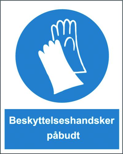 Beskyttelseshandsker påbudt - Plast