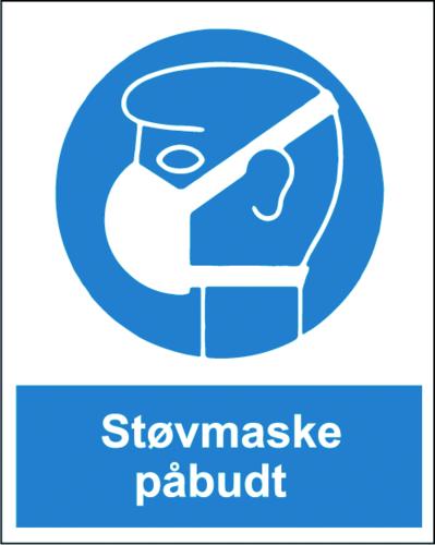 Støvmaske påbudt - Folie