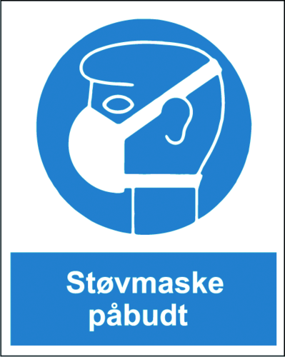 Støvmaske påbudt - Plast