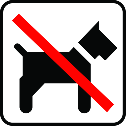 Hunde ej adgang - Folie