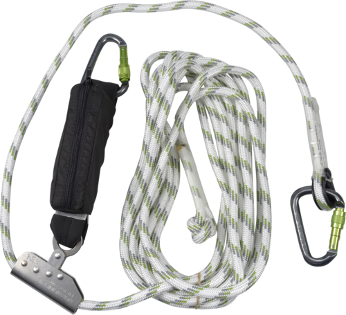 OX-ON Fall Arrester Edge Ultra Supreme w/ alu. carabiners 10 m
