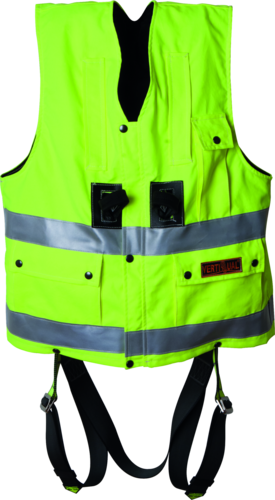 OX-ON Hi-Viz Vest w/harness Comfort
