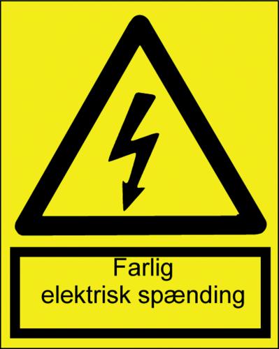 Farlig elektrisk spænding - Plast