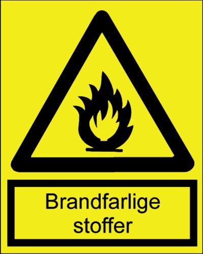 Brandfarlige stoffer - Folie
