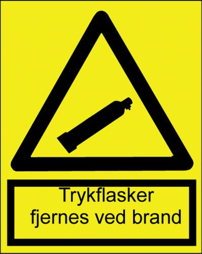Trykflasker fjernes vedbrand