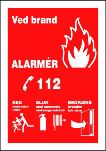 112-Skilt - Plast