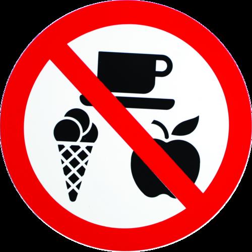 Mad og drikkevarer forbudt - Plast