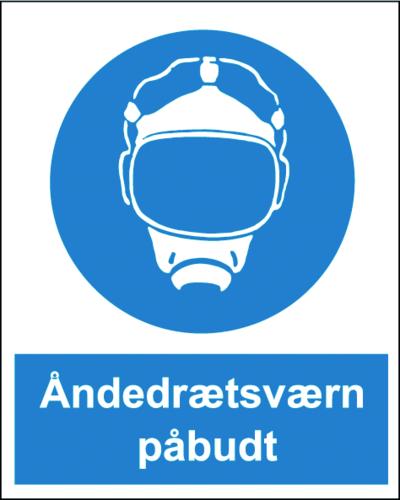 Åndedrætsværn påbudt - Plast