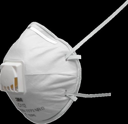 3M støvmaske, FFP2, med ventil, C112, 10 stk. pr. æske
