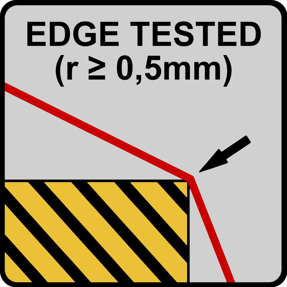 Sharp edge tested